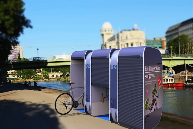 S w o p bicycle box for Caseta guarda bicicletas