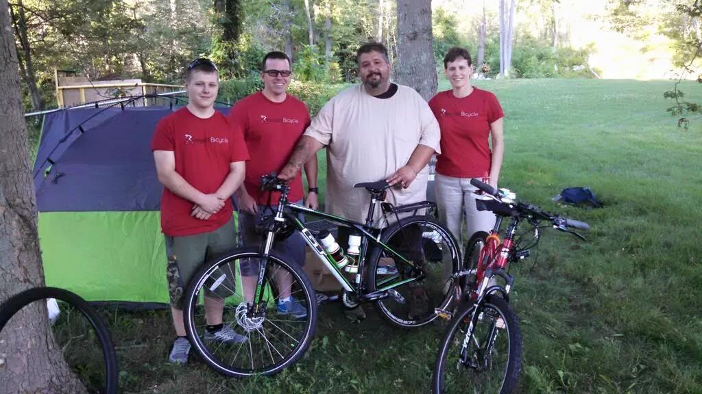 Con bicicleta donada