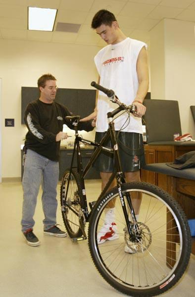 La bici del basquebolista Yao Ming