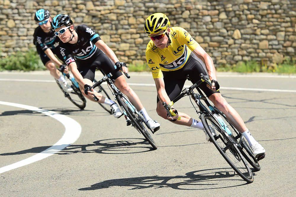 Tour de France 2016 - 10/07/2016 - Etape 9 - Vielha Val d'Aran/ Andorre Arcalis (184,5 km) - La TEAM SKY mène le peloton